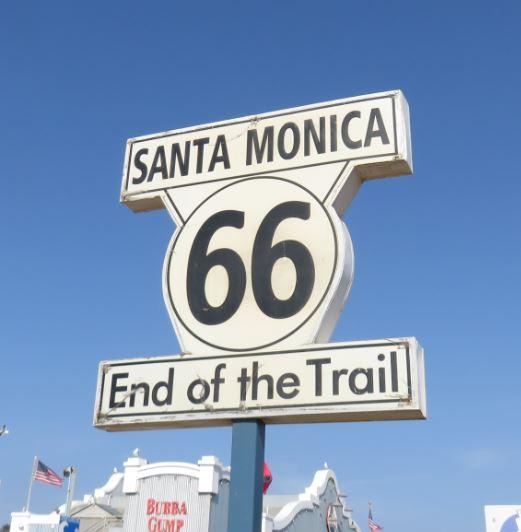 Hier endet die Route 66